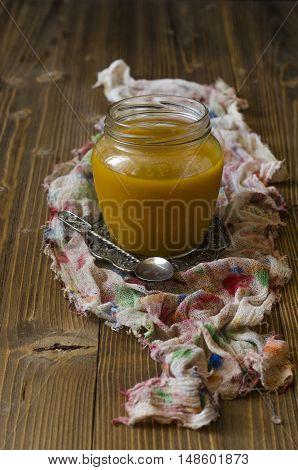 Sea buckthorn sauce autumn on the gauze