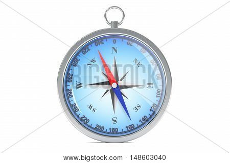 Magnetic compass 3d rendering isolated on white background