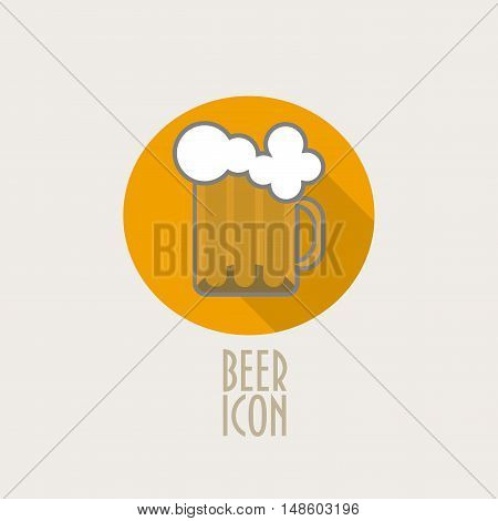 Beer Mug Vector Icon could be used as Oktoberfest symbol