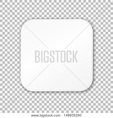 Empty white paper plate. Vector Illustration on transparent background