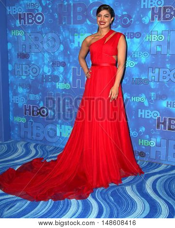 LOS ANGELES - SEP 18:  Priyanka Chopra at the 2016  HBO Emmy After Party at the Pacific Design Center on September 18, 2016 in West Hollywood, CA