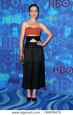 LOS ANGELES - SEP 18:  Angelique Cabral, Zoe Lister-Jones at the 2016  HBO Emmy After Party at the Pacific Design Center on September 18, 2016 in West Hollywood, CA