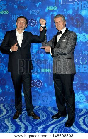LOS ANGELES - SEP 18:  Gennady Golovkin, Michael Buffer at the 2016  HBO Emmy After Party at the Pacific Design Center on September 18, 2016 in West Hollywood, CA