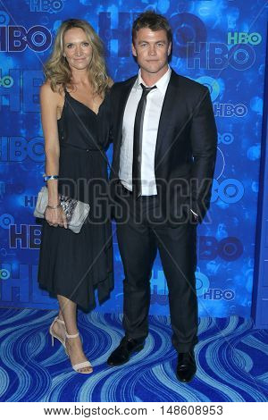 LOS ANGELES - SEP 18:  Wife, Luke Hemsworth at the 2016  HBO Emmy After Party at the Pacific Design Center on September 18, 2016 in West Hollywood, CA
