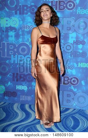 LOS ANGELES - SEP 18:  Keisha Castle-Hughes at the 2016  HBO Emmy After Party at the Pacific Design Center on September 18, 2016 in West Hollywood, CA