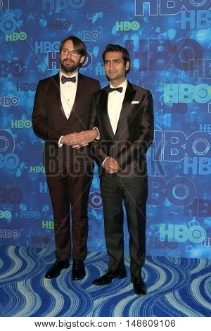 LOS ANGELES - SEP 18:  Martin Starr, Kumail Nanjiani at the 2016  HBO Emmy After Party at the Pacific Design Center on September 18, 2016 in West Hollywood, CA