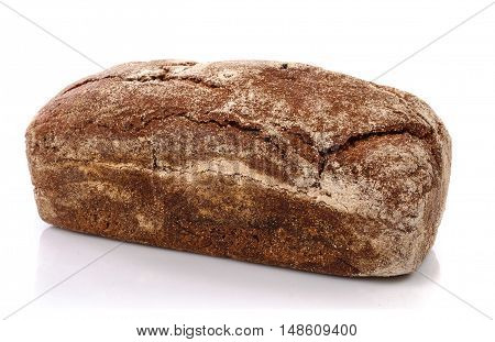Сrackly  fresh bread on white background. Isolated