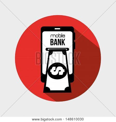 mobile bank credit money design vector illustration eps 10
