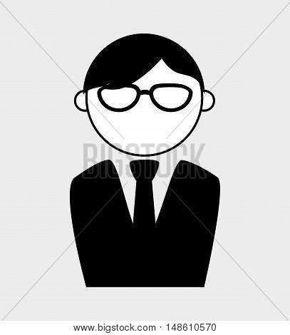 character man elegant executive isolated vector illustration eps 10