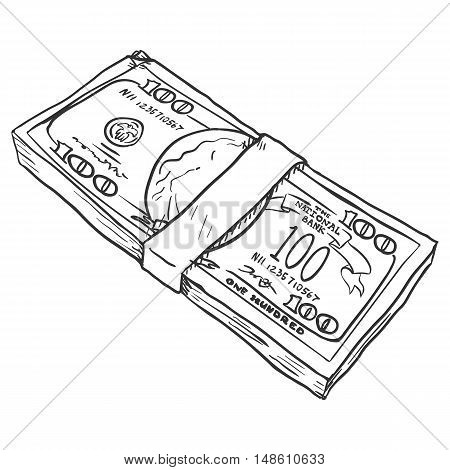 Vector Single Sketch Bills Pack