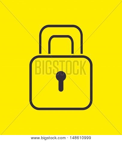 padlock safety security icon design vector illustration eps 10