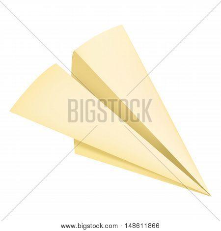 Vector Single Mesh Paper Origami Plane