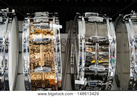 Golden And Silver Tomtom Drum