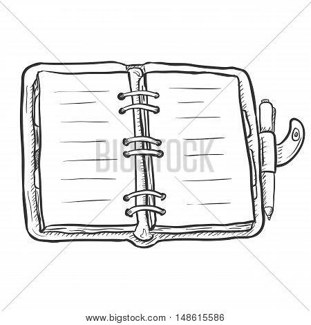 Vector Single Sketch Diary