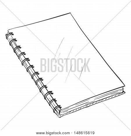 Vector Single Sketch Spiral Notebook