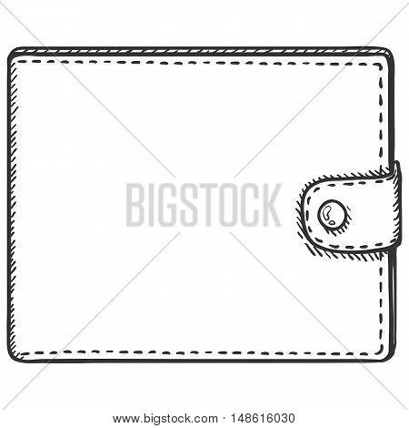 Vector Single Sketch Leather Wallet