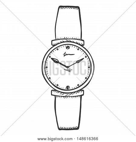 Vector Sketch Womens Wrist Watch