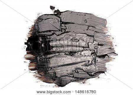 Liquid black tar blot isolated on white