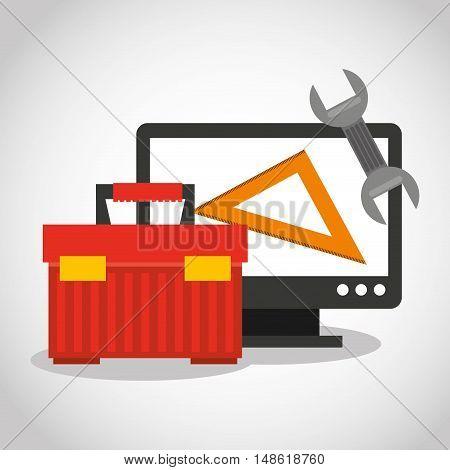 web page under construction vector illustration design