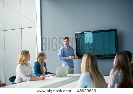 Having A Business Meeting