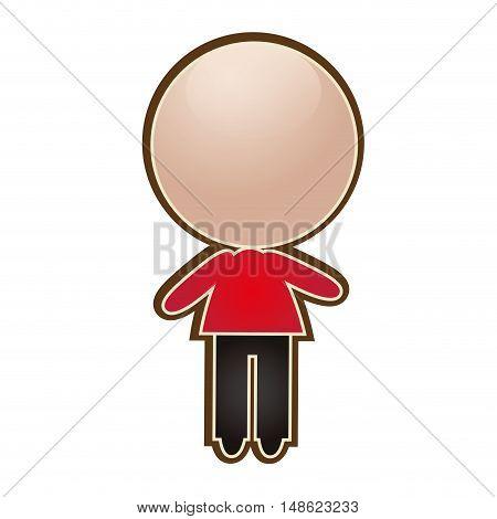 avatar human man cartoon. male person user. vector illustration