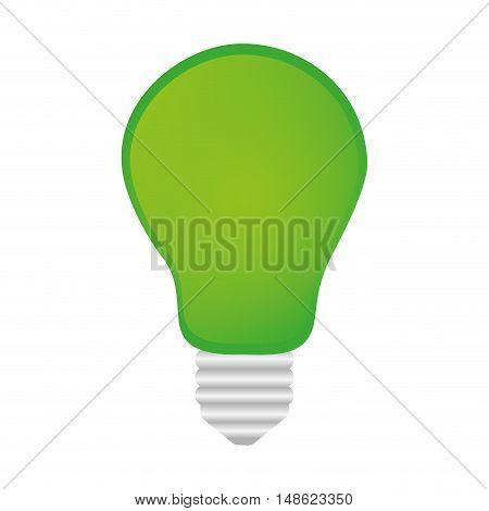 green bulb light power energy object. vector illustration
