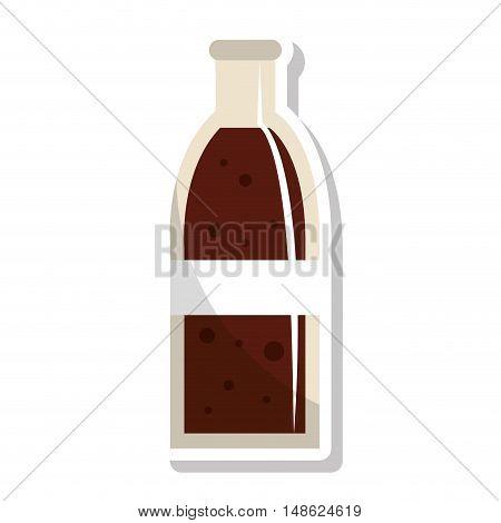 soda bottle glass icon vector illustration design