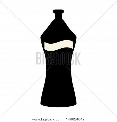 water bottle with white label. drink container. vector illustration