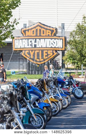 York PA - September 23 2016: Thousands of motorcycle enthusiasts attended the annual Harley-Davidson Open House at its factory.