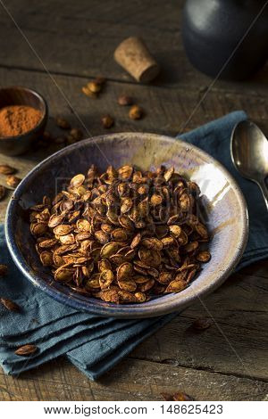 Homemade Roasted Spicy Pumpkin Seeds