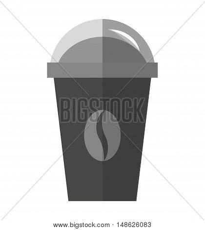 coffee drink glass icon vector illustration design