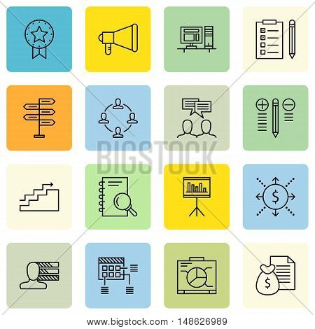 Set Of Project Management Icons On Charts, Personality, Cash Flow And More. Premium Quality Eps10 Ve