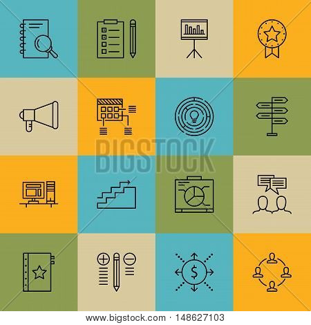 Set Of Project Management Icons On Team Meeting, Quality Management, Cash Flow And More. Premium Qua