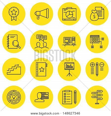 Set Of Project Management Icons On Creativity, Task List, Workspace And More. Premium Quality Eps10