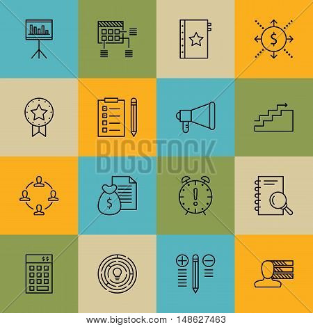 Set Of Project Management Icons On Cash Flow, Quality Management, Money Revenue And More. Premium Qu