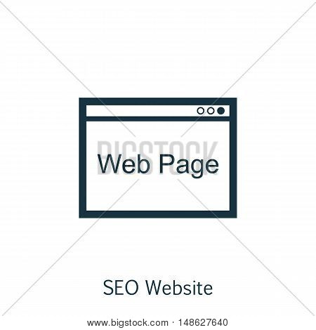 Vector Illustration Of Seo, Marketing And Advertising Icon On Web Page In Trendy Flat Style. Seo, Ma