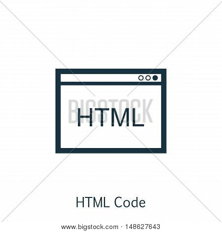 Vector Illustration Of Seo, Marketing And Advertising Icon On Html Code In Trendy Flat Style. Seo, M