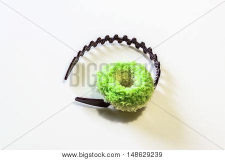 Brown Headband and Green Hairband for a girl
