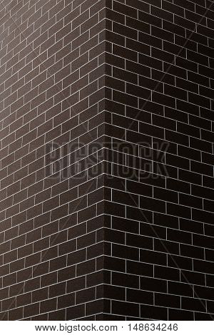 Building red brick wall of texture to ideal new