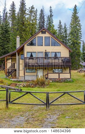 Luxury log cabin in Vancouver, Canada.