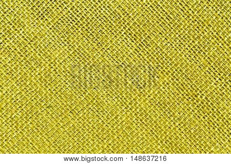 Yellow Sack Cloth Texture.