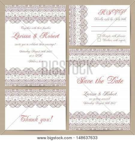 Set Of Wedding Cards
