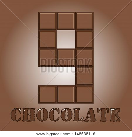 The Number Of Bars Of Chocolate. Nine