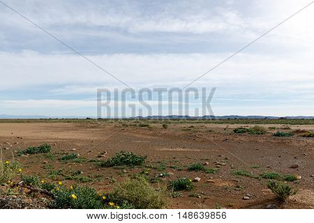 Empty Space With Blue Clouds In Tankwa Karoo