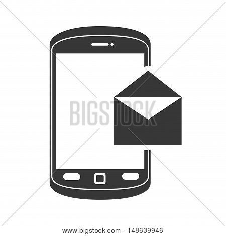 smartphone mobile phone and envelope message. communication and technology device. vector illustration