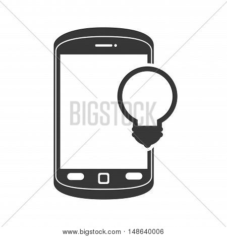 smartphone mobile phone and bulb light. communication and technology device. vector illustration