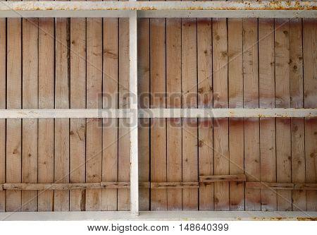 Bottom View Of Wooden Board-walk On Metal Joists.