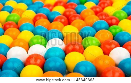 many colored fruit gummy  sugary candies close-up