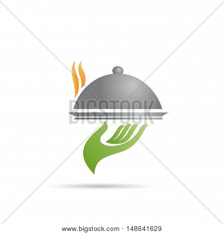 Vector sign cook international cuisine, isolated on white