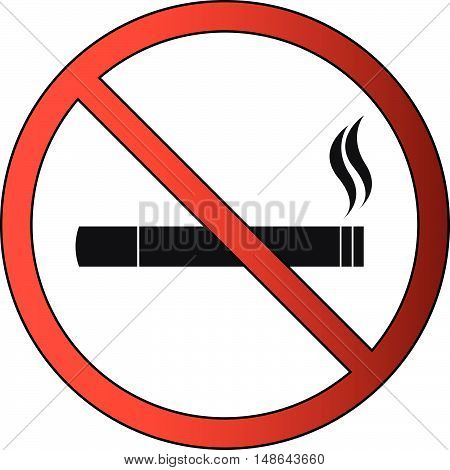 No Smoking or Smoke or Cigar Prohibited Icon
